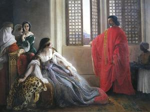 Caterina Cornaro Receives News of Deposition of Queen of Cyprus, 1842 by Francesco Hayez
