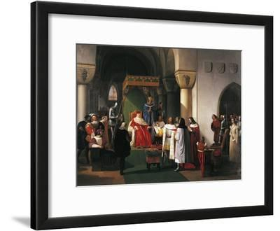 Filippo Maria Visconti, Duke of Milan Returns Crown to Kings of Aragona and of Navarra