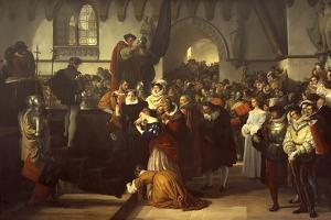 Mary Queen of Scots Being Led to the Scaffold, 1827 by Francesco Hayez
