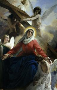 Our Lady of Sorrows 1842 Virgin Mary Mourning Death of Christ with Angels by Francesco Hayez