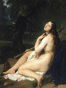 Penitent Saint Mary Magdalene by Francesco Hayez