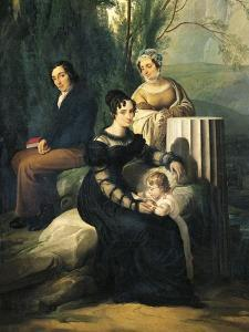 Portrait of Family Stampa Di Soncino by Francesco Hayez