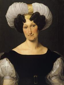 Portrait of Frances Majnoni D'Intignano Dell'Acquafredda by Francesco Hayez