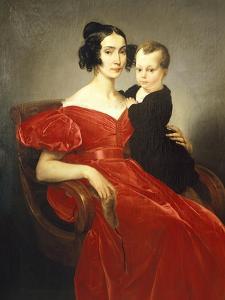 Portrait of Teresa Zumali Marsili with Her Son Giuseppe by Francesco Hayez