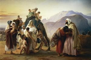 Reconciliation of Esau with Jacob, 1844 by Francesco Hayez