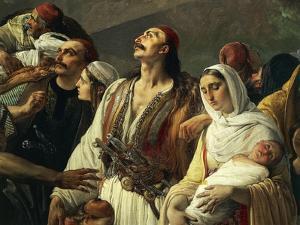 Refugees of Parga, 1826-1831 by Francesco Hayez