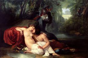 Rinaldo and Armida by Francesco Hayez