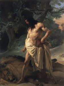 Samson Slays the Lion by Francesco Hayez