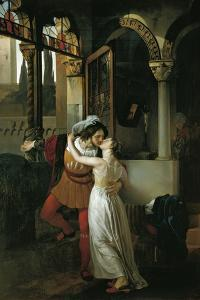 The Last Kiss of Romeo and Juliet, 1823 by Francesco Hayez