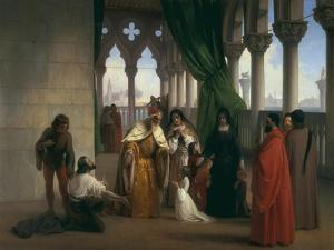 The Two Foscari, Modern Art Gallery, Florence by Francesco Hayez