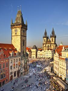 Europe, Czech Republic, Central Bohemia Region, Prague, Prague Old Town Square, Tyn Church by Francesco Iacobelli