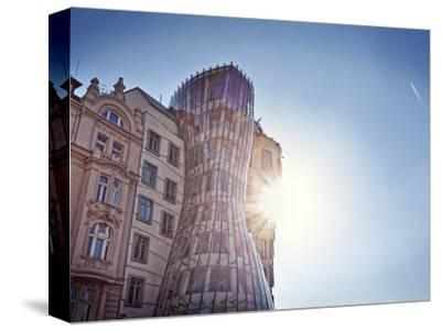 Europe, Czech Republic, Central Bohemia Region, Prague, the Swinging House or Dancing House by Rich