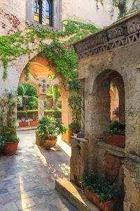 Italy, Amalfi Coast, Ravello, Villa Rufolo. Cloister by Francesco Iacobelli