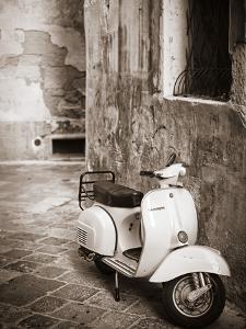 Italy, Apulia, Lecce District, Salentine Peninsula, Salento, Lecce, Vespa Scooter by Francesco Iacobelli