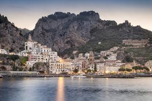 Italy, Campagnia, Amalfi Coast, Amalfi. The town of Amalfi. by Francesco Iacobelli