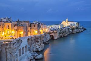 Italy, Italia. Apulia, Puglia, Foggia district. Gargano, Vieste. Old town and Punta di San Francesc by Francesco Iacobelli