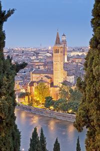Italy, Italia Veneto, Verona District. Verona. View from Castel San Pietro by Francesco Iacobelli