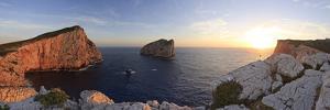 Italy, Sardinia, Sassari District, Alghero, Capo Caccia, Characteristic White Cliffs of Capo Caccia by Francesco Iacobelli