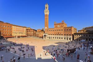 Italy, Tuscany, Siena District, Siena. Piazza Del Campo. the Square. by Francesco Iacobelli