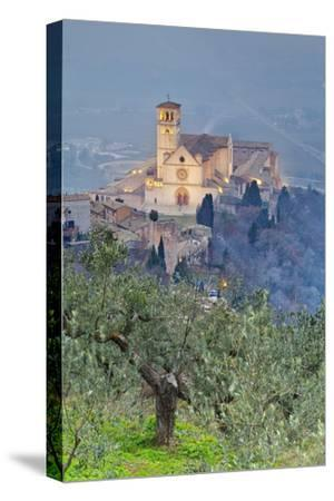 Italy, Umbria, Perugia District, Assisi, Basilica of San Francesco.