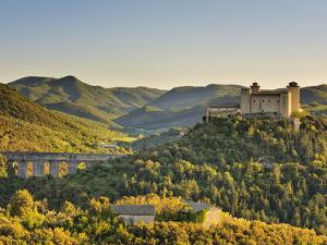 Italy, Umbria, Perugia District, Spoleto, Rocca Albornoz and Ponte Delle Torri by Francesco Iacobelli