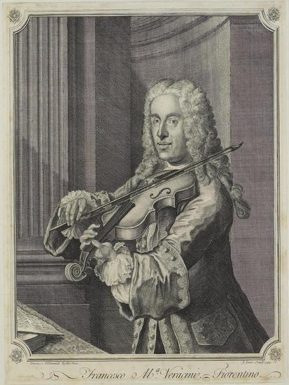 Francesco Ma Veracini, Engraved by J. June (Fl.C.1740-70), 1744-Franz Ferdinand Richter-Giclee Print