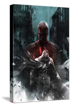 Shadowland: Moon Knight No.1 Cover: Moon Knight and Daredevil Walking