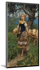 The Young Shepherdess by Francesco Paolo Michetti