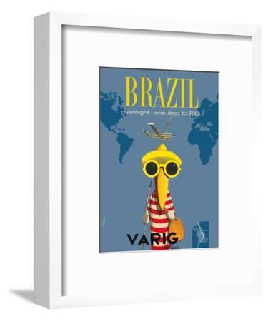 Brazil - Overnight One Stop to Rio De Janeiro - Varig Airlines - Lockheed Super G Constellation