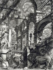 Carcere V by Francesco Piranesi