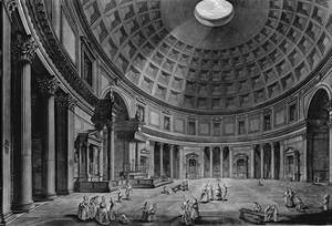 Interior View of the Pantheon by Francesco Piranesi