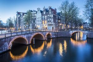 Canal Crossroads At Keizersgracht, Amsterdam, Netherlands by Francesco Riccardo Iacomino