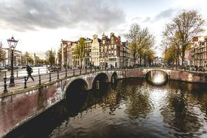 Canal Crossroads At Keizersgracht, Amsterdam, Netherlands. by Francesco Riccardo Iacomino