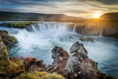 Godafoss, Myvatn, Iceland. the Waterfall of the Gods at Sunset by Francesco Riccardo Iacomino