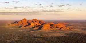 Kata Tjuta at sunrise, Aerial View, Red Center. Northern Territory, Australia by Francesco Riccardo Iacomino
