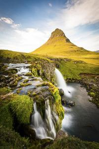 Kirkjufell Mountain, Snaefellsnes Peninsula, Iceland. Landscape with Waterfalls by Francesco Riccardo Iacomino