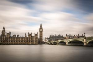 London, Westminster, House of Parliament with Big Ben. by Francesco Riccardo Iacomino