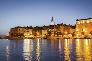 Rovinj, Croatia, Europe. View of the City at Dusk from the Harbour by Francesco Riccardo Iacomino