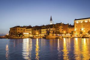 Rovinj, Croatia, Europe. View of the City at Dusk from the Harbour by Francesco Riccardo Iacomino
