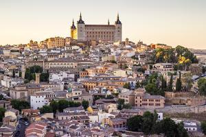 Toledo, Castille - La Mancha, Spain. View of the Ancient City at Sunset by Francesco Riccardo Iacomino