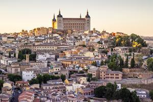 Toledo, Castille - La Mancha, Spain. View of the Ancient City at Sunset by Francesco Riccardo Iacomino