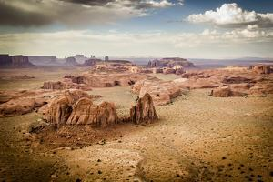 Utah - Ariziona Border, Panorama of the Monument Valley from a Remote Point of View by Francesco Riccardo Iacomino