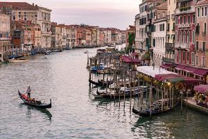 Venice, Veneto, Italy. Buildings and gondola from Rialto Bridge by Francesco Riccardo Iacomino