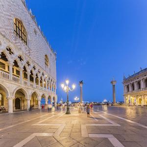 Venice, Veneto, Italy. San Marco Square at night by Francesco Riccardo Iacomino