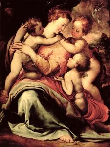 Madonna and Child with an Angel and the Infant St. John the Baptist by Francesco Salviati