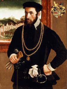 Portrait of Anton Rummel Von Liechtenan by Francesco Salviati