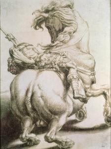 Rider Pierced by a Spear, 16th Century by Francesco Salviati