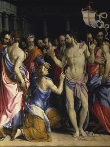 The Incredulity of St, Thomas, C. 1547 by Francesco Salviati