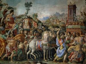 The Triumph of Marcus Furius Camillus, from the Sala Dell'Udienza, 1545 (Pre-Restoration) by Francesco Salviati