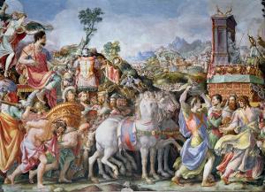 The Triumph of Marcus Furius Camillus by Francesco Salviati